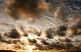 malaysia, borneo, sarawak: very nice sunset poster