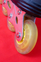 red rollerblades