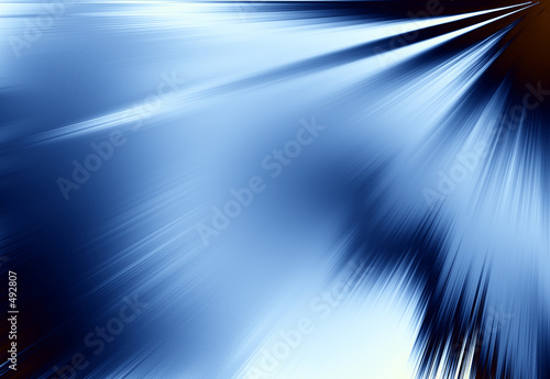 poster of blue rays of light background