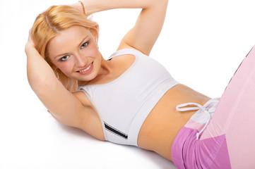 fitness girl.