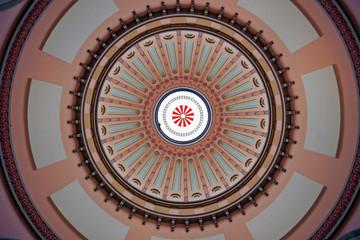 colorful ohio statehouse rotunda dome