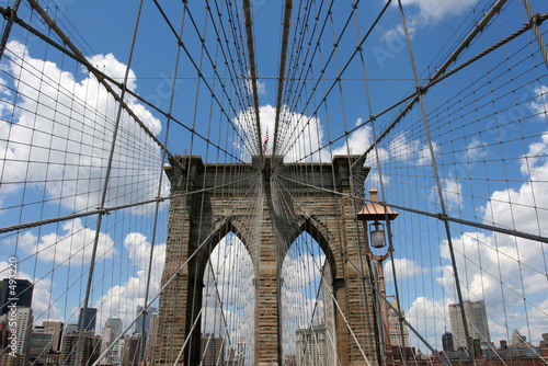 new york on the brooklyn bridge