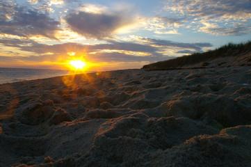 nantucket beach sunset