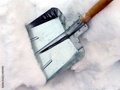 cleaning snow