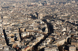 france, paris: aerial view from eiffel tower poster