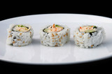 sushi on white plate 1 poster