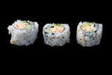 sushi on black plate 1 poster