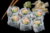 california roll on black poster