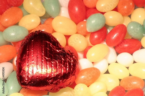 easter eggs with heart