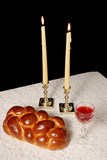 shabbat candles lighted poster