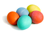 five colored eggs poster