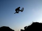 mountain bike jump poster