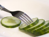 cucumber on fork poster