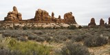 arches rock formation poster