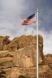 flag over arches poster