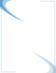 blue swooshes -design template