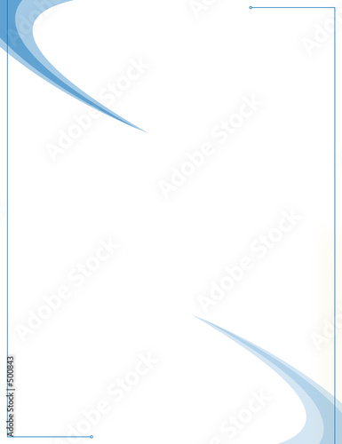 blue swooshes -design template