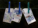 money (euros) poster