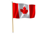canadian silk flag poster