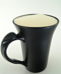 coffee cup in black