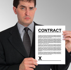 businessman side presentation (contract)