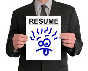 businessman presentation (resume - silly face)