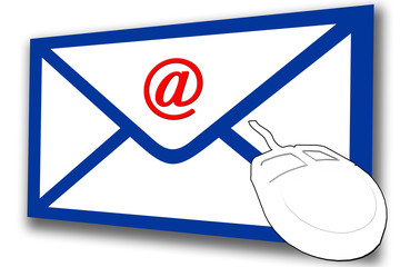 envelope @ email and mouse