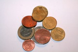 few euro cents coins poster