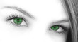 Leinwanddruck Bild green eyes