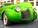 green vintage car poster