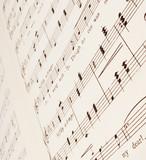 sheet music poster