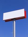 blank billboard over blue sky poster