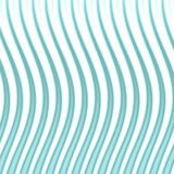 wavy blue lines poster