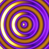 golden hypnotic circles poster