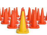 army of traffic cones poster