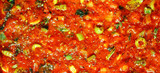 tasty tomato souce background poster