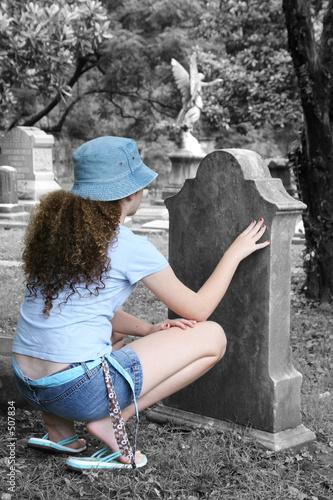 girl in graveyard 1