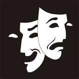 theater mask poster