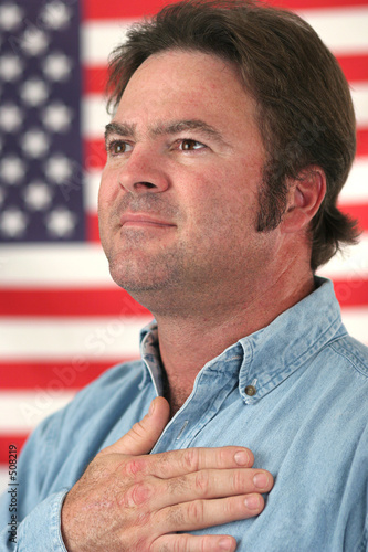 Poster american man patriotic