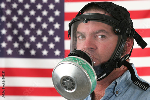 american gas mask horizontal Poster