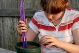 measuring the soil poster