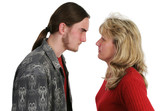 mother son confrontation poster