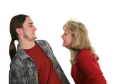 mother son horseplay poster