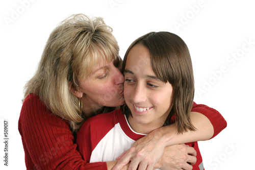 poster of mom kisses boy