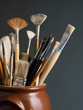 artist brushes poster