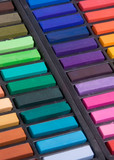 soft pastels close up poster