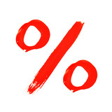 percentage symbol poster