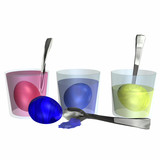 dyeing colorful easter eggs 1 poster