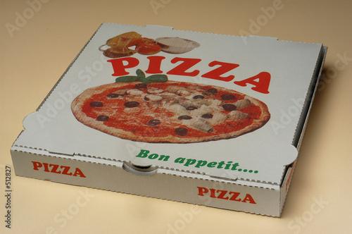 une boite à pizza