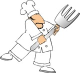 fork chef poster